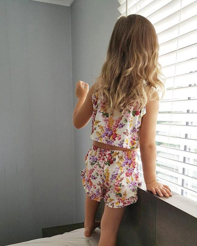 2018 cute Baby flower print suit Toddler Kid Baby Girls Tops Blouse Pants Shorts Outfits Floral Set Clothes P30 baby clothes cute newborn baby girl bodysuit headband outfits floral sunsuit clothes flower infnat toddler girls summer 3pcs set playsuit