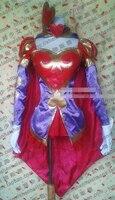 LOL Ashe Seeking Curves Customized Uniforms Cosplay Costume Free Shipping + Stockings