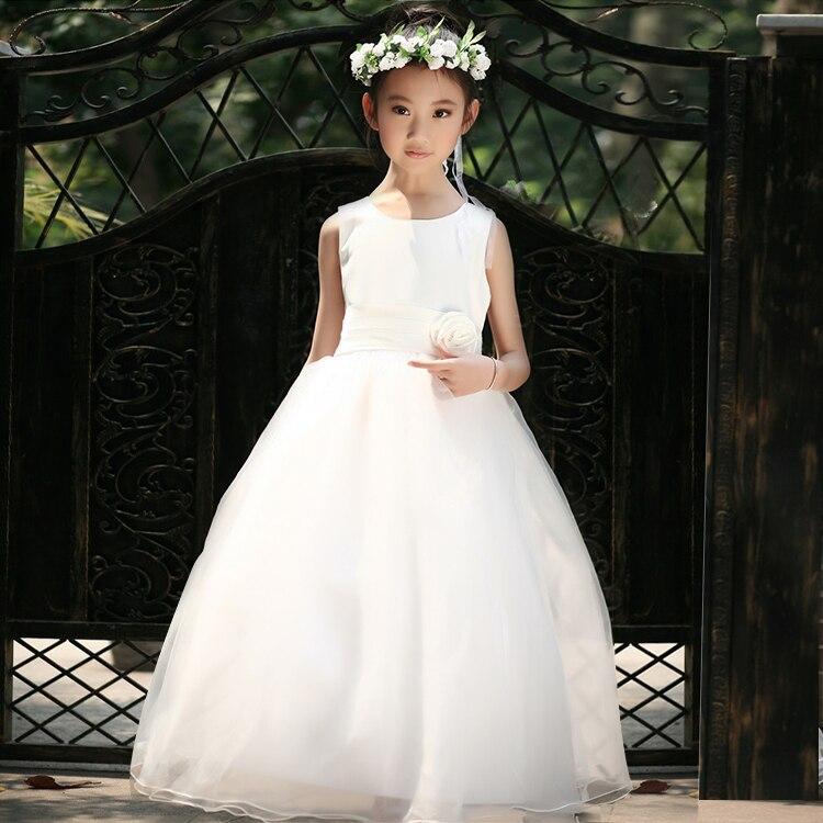 лето цветок девочка платье. дети белый романтический шифон необычные дети платье для младенцы пачка платье дети бант. 5 цветов