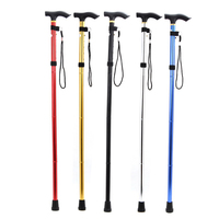 New Promotion Walking Poles Stick Foldable Walking Trekking Hiking Stick Cane Crutch Alpenstock Adjustable Free Shipping