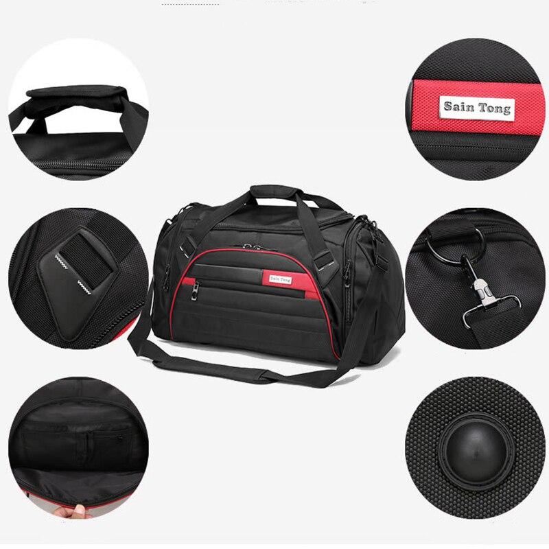 Bucbon Для мужчин большой Ёмкость спортивная сумка для тренажерного зала Для женщин Фитнес сумка Водонепроницаемый Открытый путешествия веще...