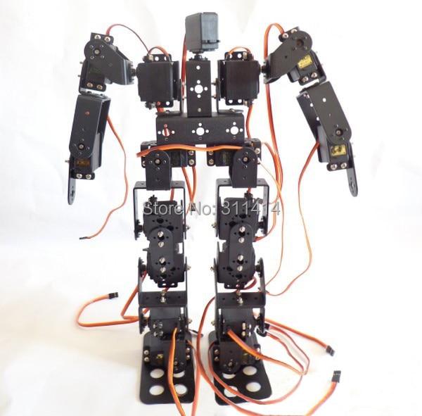1 juego 17DOF Robot Biped Kit de Robot Educativo 17 grados de libertad humana/humanos caminar/pies Servo soporte kit de-in Figuras de juguete y acción from Juguetes y pasatiempos    1