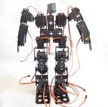 1 set 17DOF Biped Robot Educational Robot Kit 17 Gradi Di Libertà Umanoide/Umanoidi Walking/piedi Staffa Servo Kit