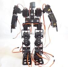 Robot Educativo de 17 grados de libertad, Kit de soporte de Servo para pies, humanoide, caminar
