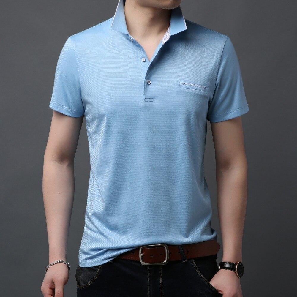 100% QualitäT Herren Polo Shirts 2019 Neue Hohe Qualität Polos Business Männer Baumwolle Kurzarm Shirt Sommer Kleidung Rosa Grün Blau F9365 Mit Dem Besten Service