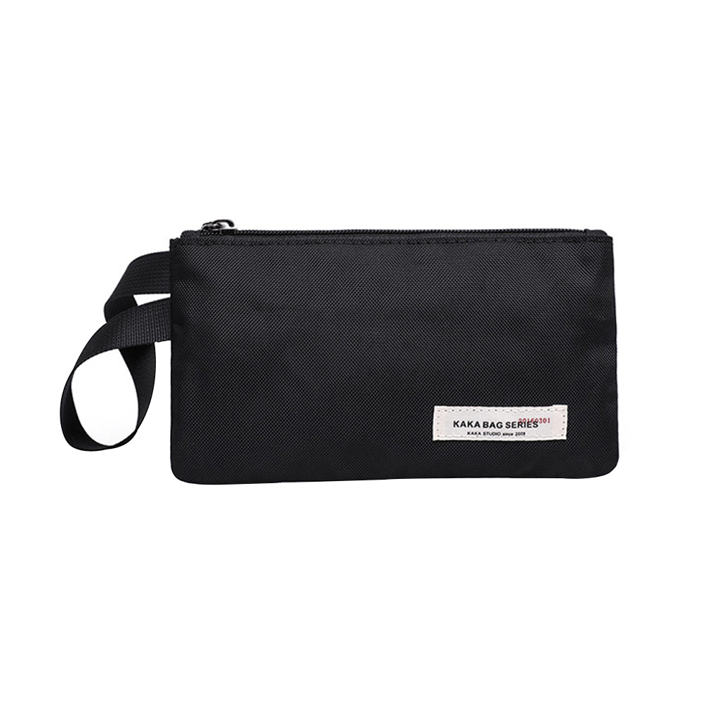 Man Casual Clutch Envelope Bag Small Pouch Zipper Fashion Phone Holder Simple Canvas