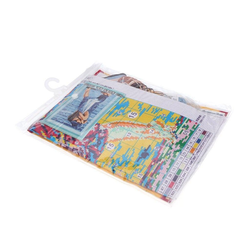 Горячая ручной работы DIY иглы для вышивания комплекты Наборы море печатных точные детства-Конструкция иглы 49.5*36 см главная decorat