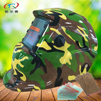 green face mask welding hot Sale solar and battery automatic darkening welding helmet glass protector safety type HD61(2200DE)WY