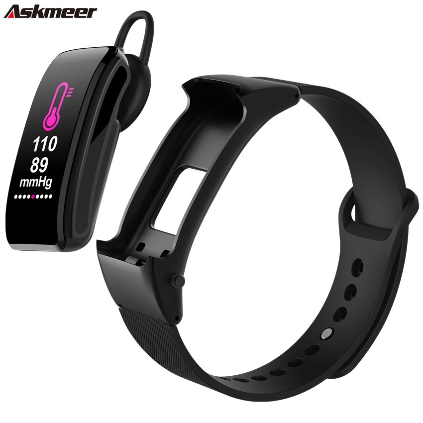 ASKMEER Smart Bracelet B31 with Bluetooth Headset Wristband Fitness Tracker Blood Pressure Sleep Monitoring Watch