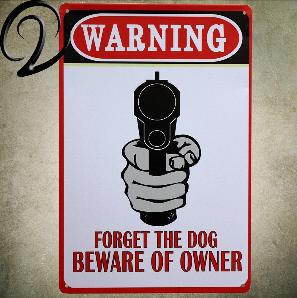 Предупреждение! Остерегайтесь пистолет владельца письмо олова знак ремесла домашнего декора 20*30 см Металл Олово знак для дома бар Pub знак че...