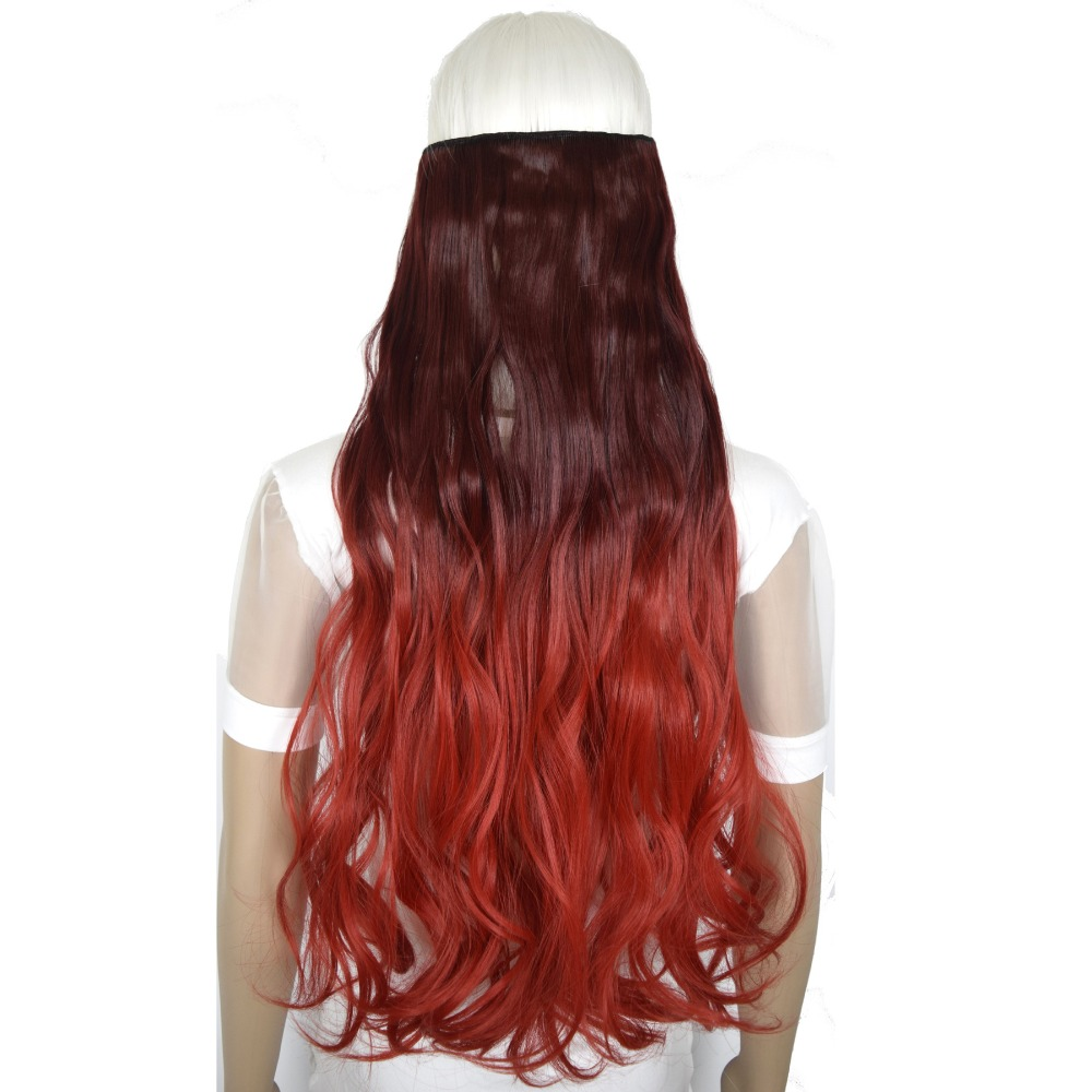 TOPREETY Heat Resistant Synthetic Fiber 24 60cm 150gr Body Wave 5 Clips on Clip in hair