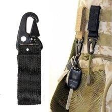 Тканевый рюкзак с карабином Molle ремень зажим Тактический высокопрочный нейлоновый ключ крюк Quickdraw застежка охотничий подвесной ремень пряжка