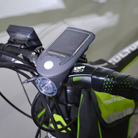Bike Light USB Solar Charging Bicycle Light 360 Degree Rotation 3W 240LM 3 Mode SOS Waterproof