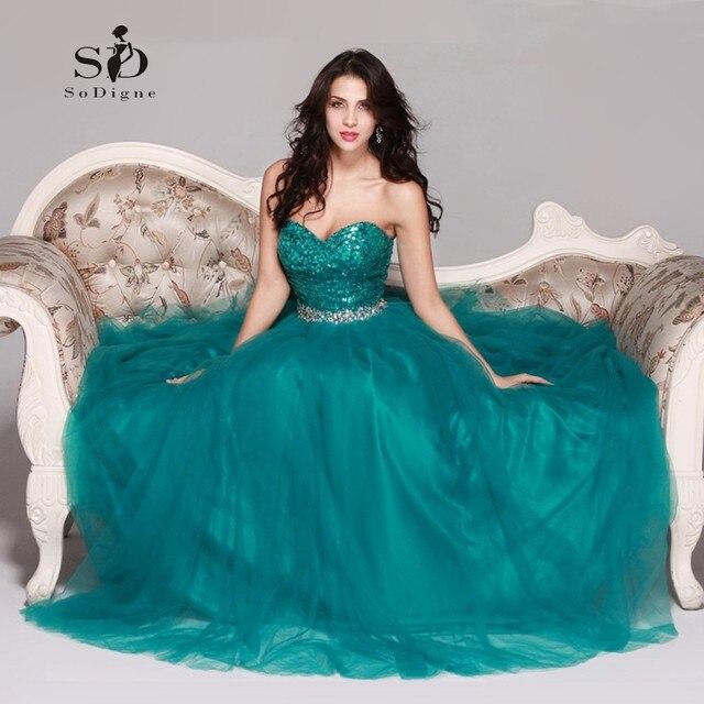 ce1c74eda4 Vestidos de Noche largos 2018 turquesa cariño una línea de cuentas vestido  de fiesta largo para
