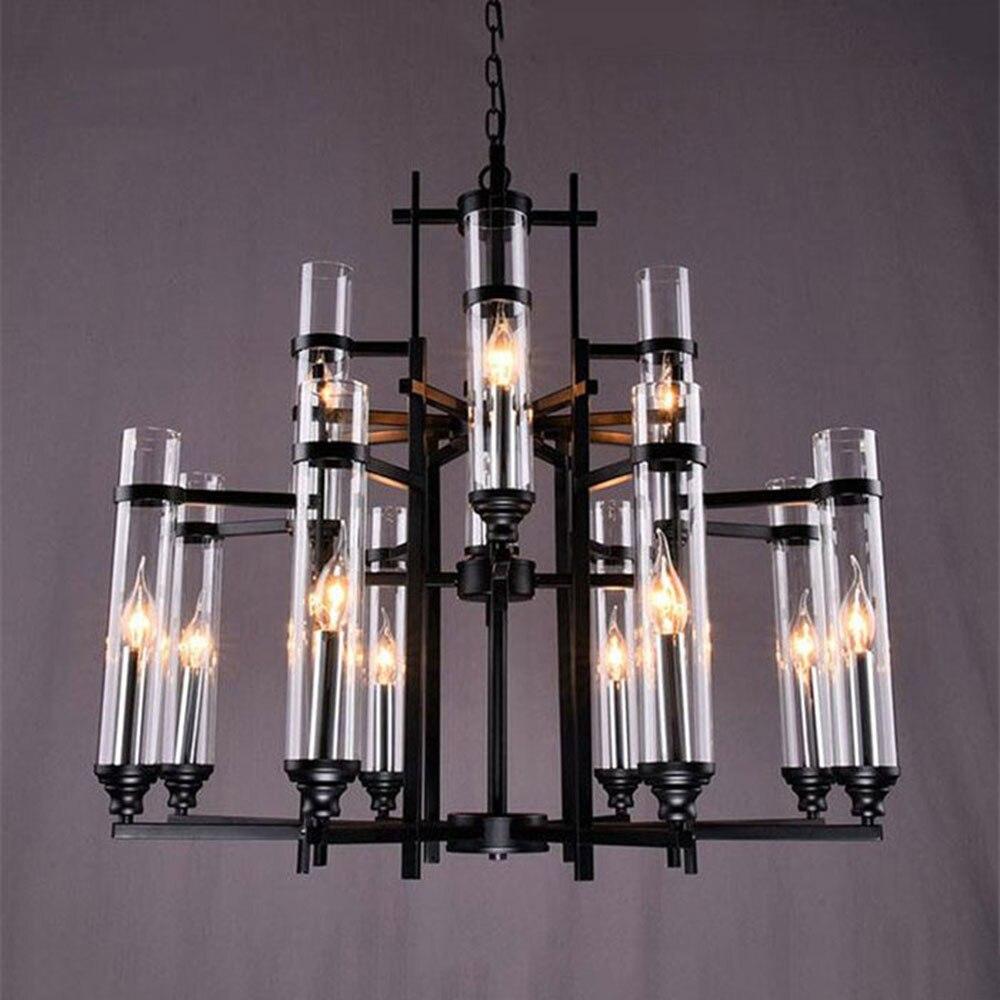 2017 New Modern LED pendant lights Lustre Candle luminaire Test tube glass Lampshade leds dinning room hanging lighting fixture