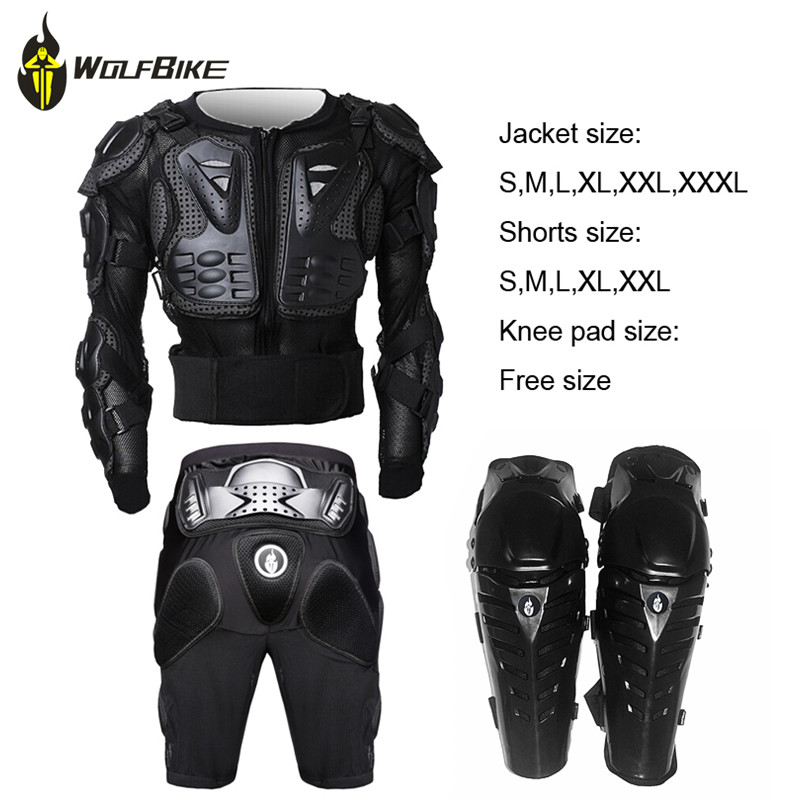 WOSAWE Professional Motorcycle Full Body Protect Sets Motorcross knee and hip Armor Spine Chest Jacket Cycle Protective Gear Set herobiker motorcycle riding body armor jacket knee pads set motorcross off road racing elbow chest protectors protective gear