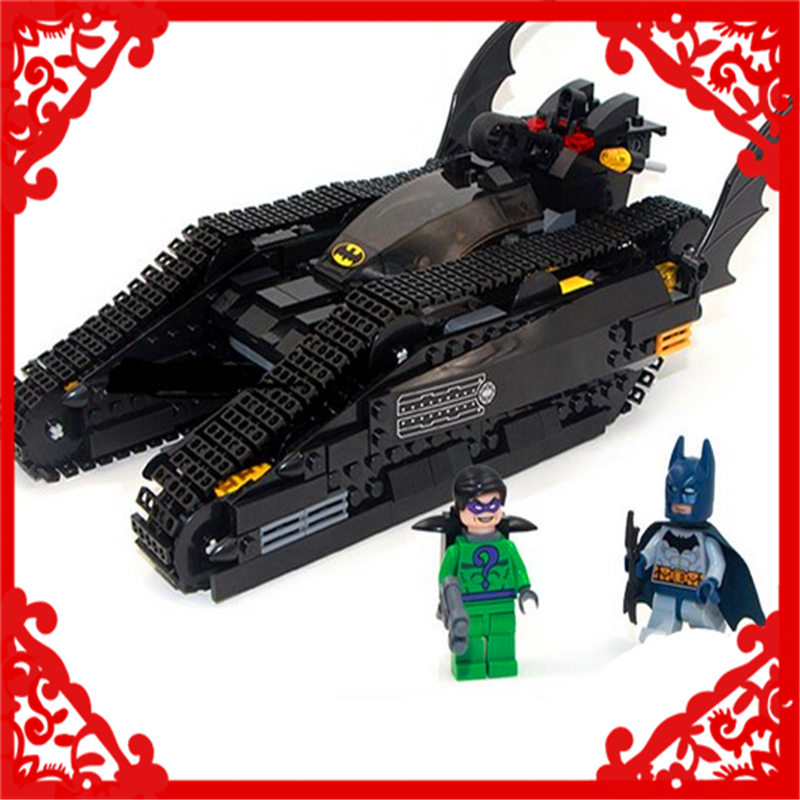 DECOOL 7108 Batman Chariot Superheroes Bat Tank Building Block Compatible Legoe 506Pcs DIY Toys For Children