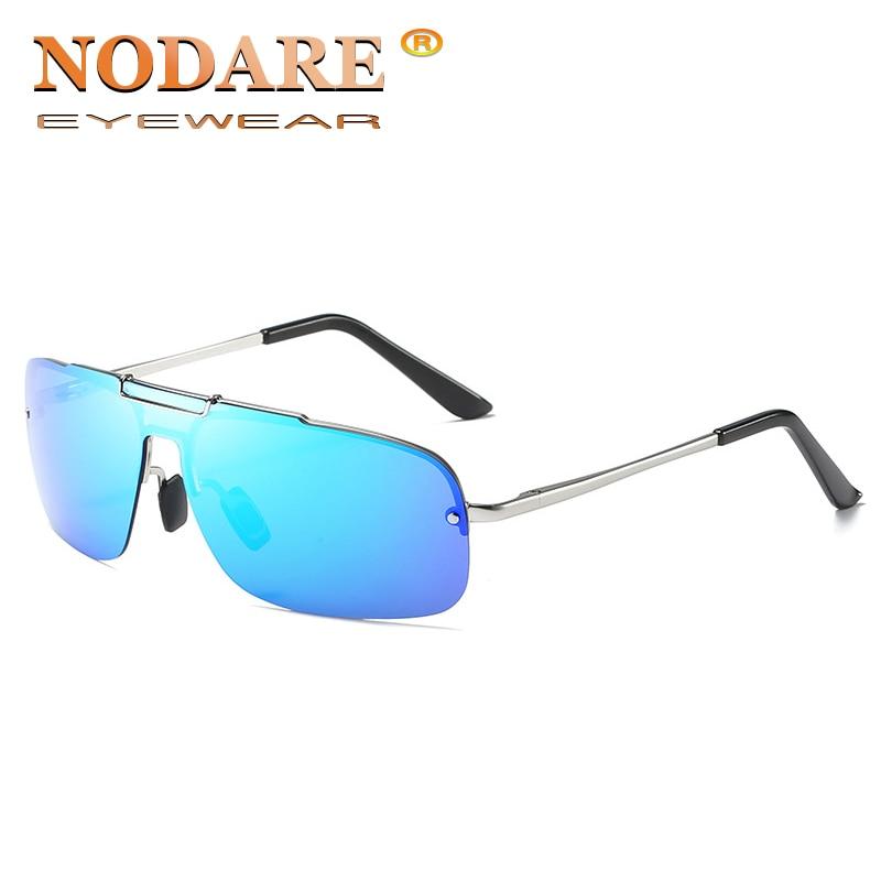 NODARE New Brand Polarized Aluminum Magnesium Legs Sunglasses Mirror Female Eyewears Accessories Rimless Sun glasses For Wen