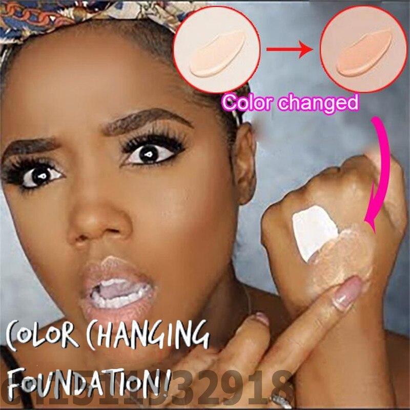Mudança líquida da composição da fundação da mudança da cor 30ml tlm a seu tom de pele apenas misturando