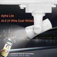 MiLight Alpha lite AL5 25W 4-Wire Dual White CCT Adjustable 99 Groups LED Auto Rail Track Light + 2.4G Wireless FUT090 Remote
