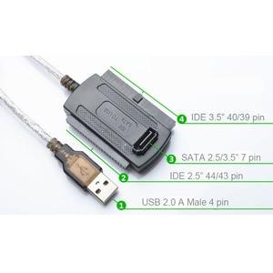 """Image 5 - En מעבדות 3 in 1 USB 2.0 לide/SATA 2.5 """", 3.5 """"כונן הדיסק הקשיח HDD SSD 480 Mb/s ממשק נתונים ממיר מתאם כבל"""