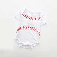Baby Boys Girls Clothes Summer Football Baby Rompers