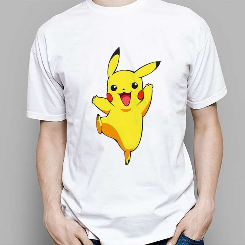 Pokemon T-shirt Pikachu Printed Carton Harajuku Hiphop Fashion Cute T Shirts Short Sleeve Tops Women Men Tee Summer image