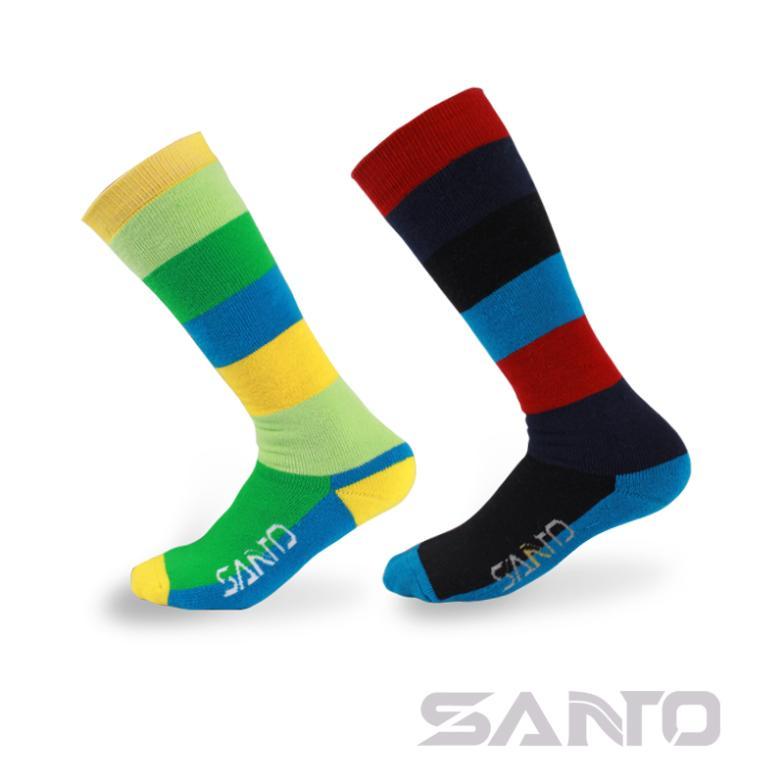 2 paar SANTO Merk Dames sneldrogend dik outdoor lange skisokken - Sportkleding en accessoires