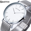 2016 New ultra slim Top GEEKTHINK brand Quartz-Watch Men Casual Business JAPAN Analog Watch Men Relogio Masculino with gift box