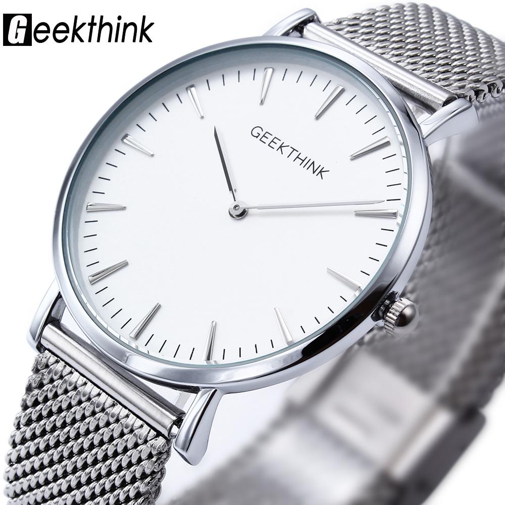 Prix pour Nouveau ultra mince top geekthink marque quartz-montre hommes d'affaires décontractée japon analogique montre homme relogio masculino avec cadeau boîte