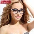 Chashma Marco Anteojos TR 90 Gafas Retro Marco de Los Vidrios Ópticos Mujeres de Cristal Claro