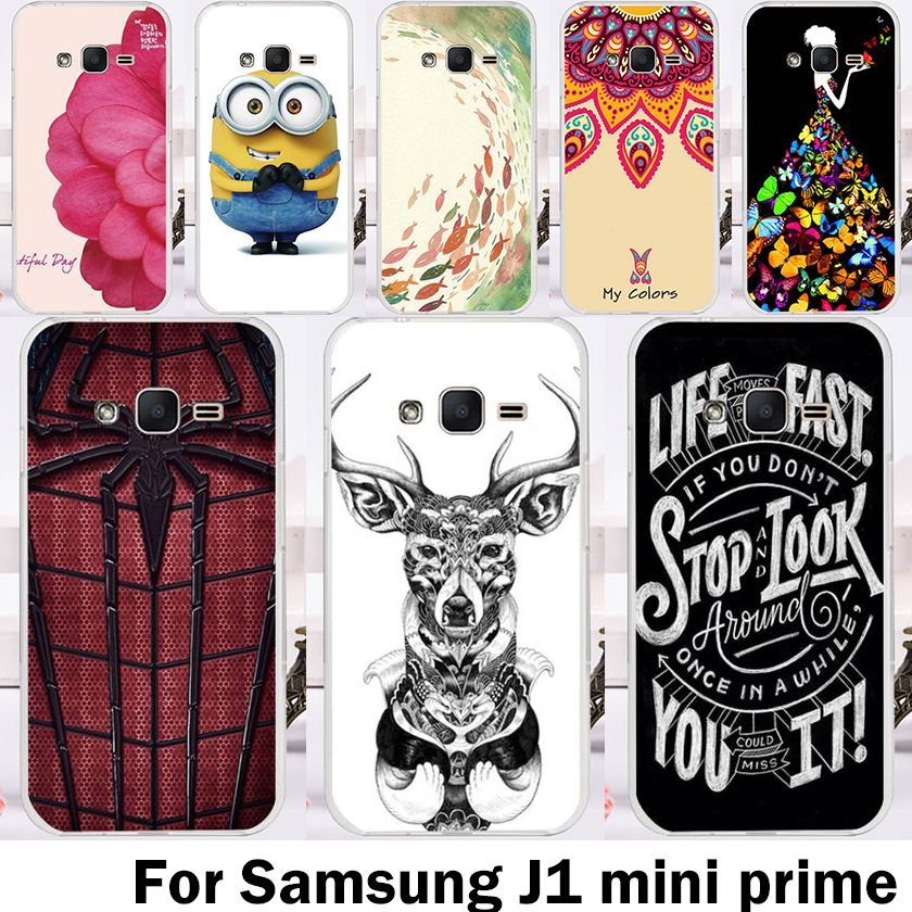 AKABEILA Hard Plastic Soft TPU Mobile Phone Cases For Samsung Galaxy J1 Mini Prime SM-J106 4.0 inch Cover Shell Skinss