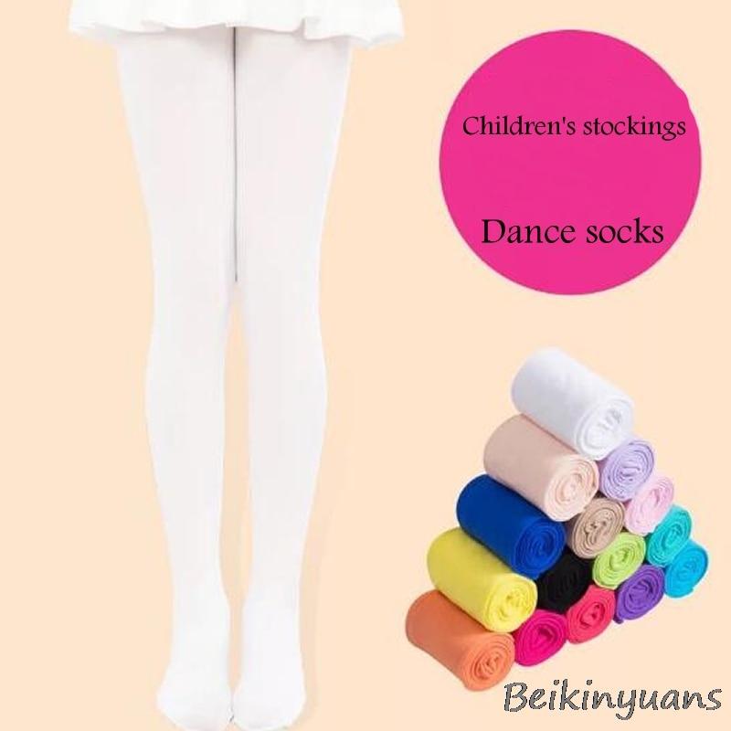 Skinny Kids Stretch Ballet Socks Children Girls Pantyhose Stockings Tights