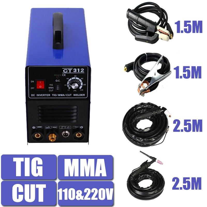 110/220 V Dual Voltage 3 In 1 Multifunzione Saldatrice TIG ARC Saldatore Taglio Al Plasma CT312 Con Trasporto accessorio Spedizione Gratuita