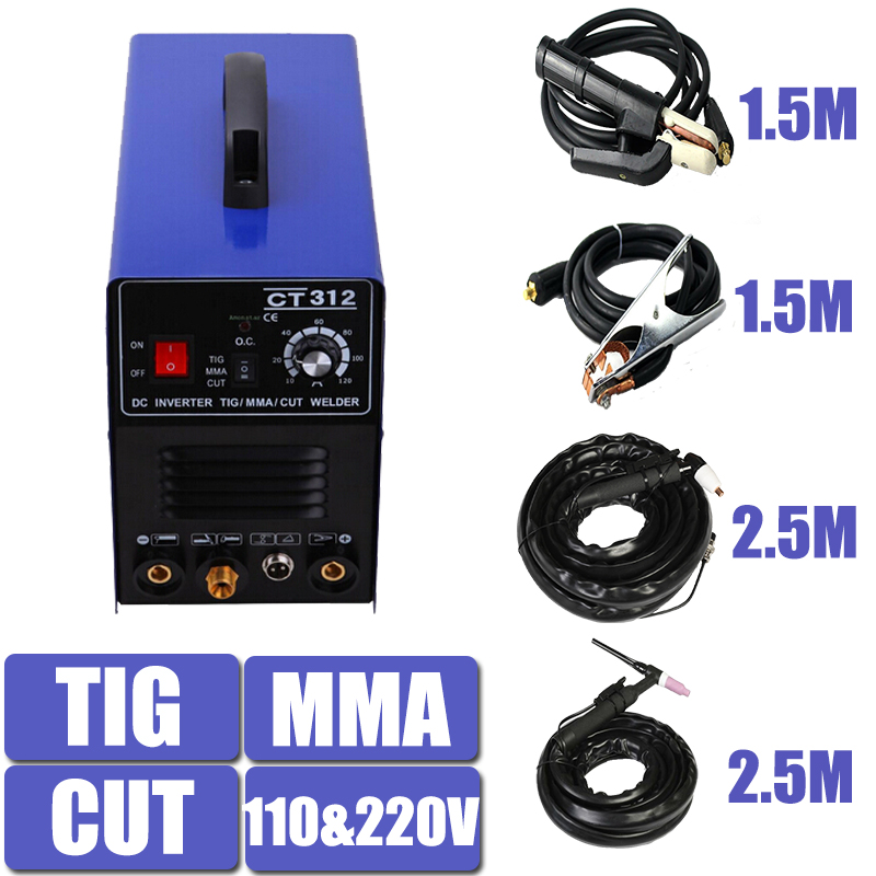 цены  110/220V Dual Voltage 3 In 1 Multifunction Welding Machine TIG ARC Welder Plasma Cutting CT312 With Free Accessory Free Shipping