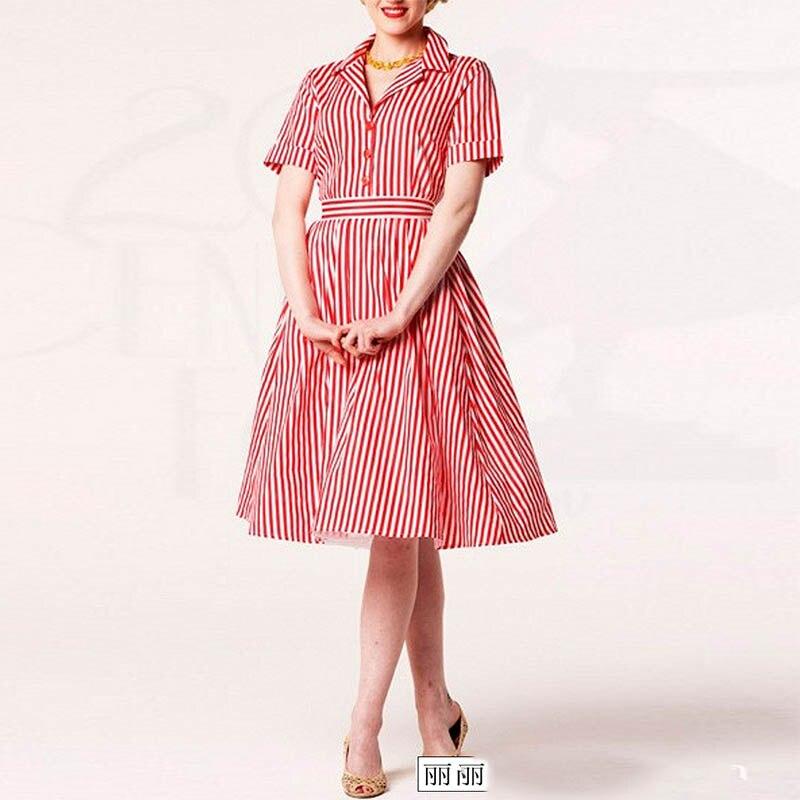 Mujeres Audrey Hepburn vestido retro del estilo del verano 50 s 60 s ...
