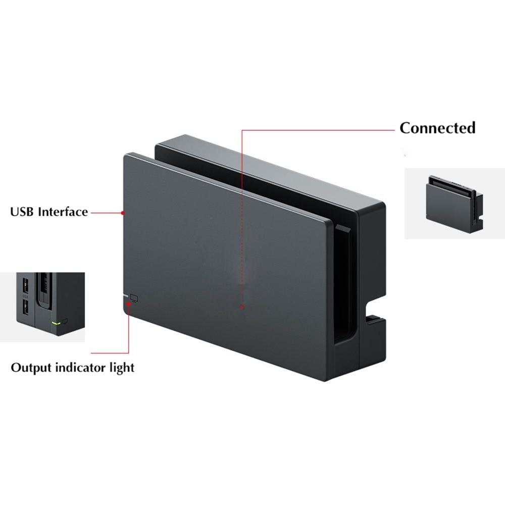 Moyeu d'origine de Station de Dock de chargeur de HDMI de remplacement pour le commutateur NS NX