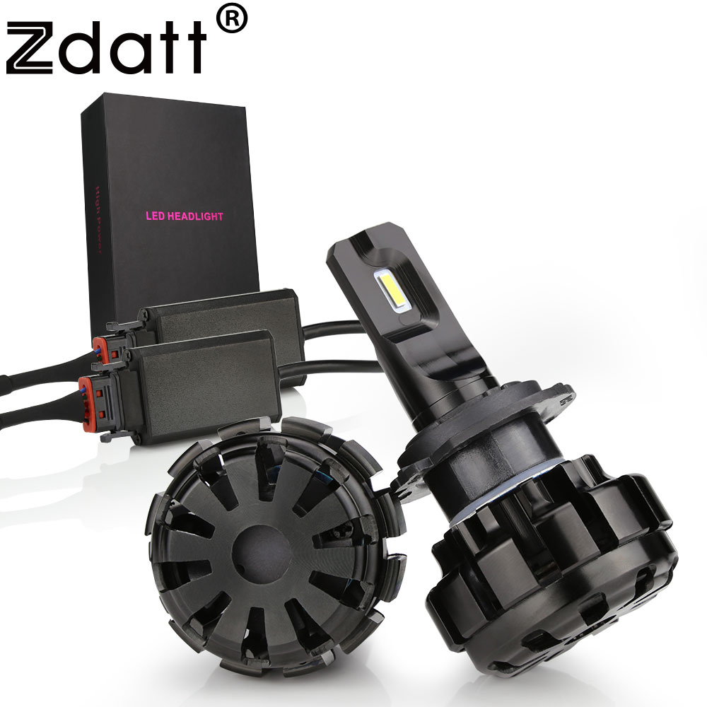 Zdatt 2 Stks Super Brgiht Auto Led Licht H1 H7 Led Lamp H8 H9 H11 9005 HB3 Koplampen Canbus 100 W 12000LM 12 V Automobiles