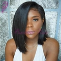 8-16 Inch Cheap Bob Wigs Synthetic Lace Front Heat Resistant Wig With Baby Hair Glueless Short Full Lace Wigs For Black Women