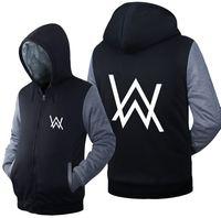 Alan Walker Fade DJ Clothing Unisex Adult Thicken Hoodies Zipper Coat Jacket Sweatshirts