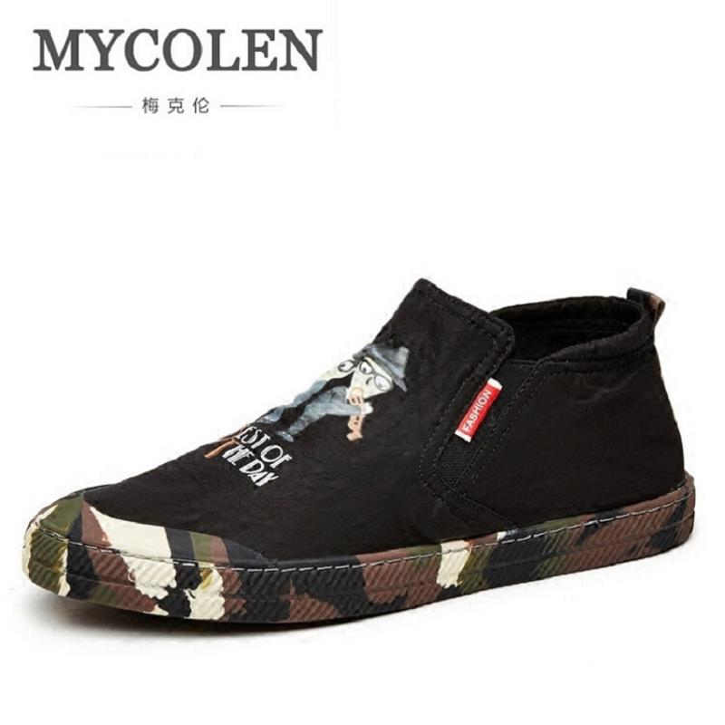 MYCOLEN Top Fashion Design Leather Personalized Casual Shoes Luxury Brand High-Quality Printed Men Moccasins Mens Loafers Men fashion young man red casual shoes men luxury high top toe mens falts british trend flat heel men s loafers shoes