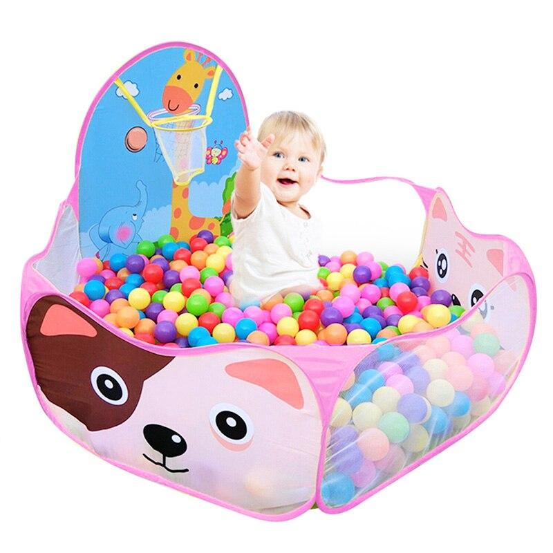 4 шт. детская палатка для помещений и улицы, детский игровой домик с океанским шариком, детский туннель из труб для ползания, игрушка, складная надувная палатка - Color: 10