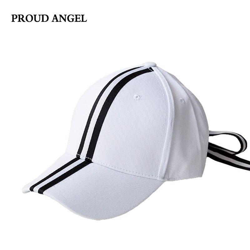 56cd54b95cc New Black White Stripes Baseball Cap Bow Tie Adjustable Unisex Hat for Men  Women Solid Color Fashion Snapback Caps Bone Gorras