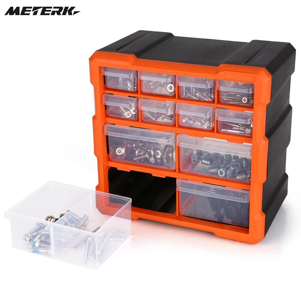 Plastic Tool Box with Dividers Storage Case Box Tool Organizer Container Box