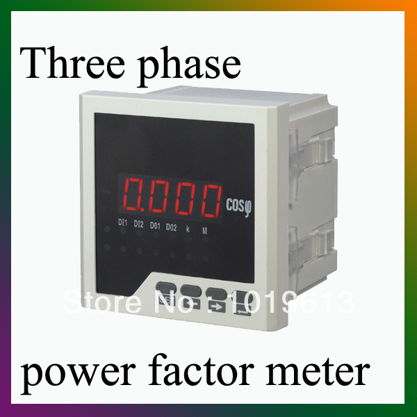 Three phase LED digital panel meter power energy meter watt 96*96mm
