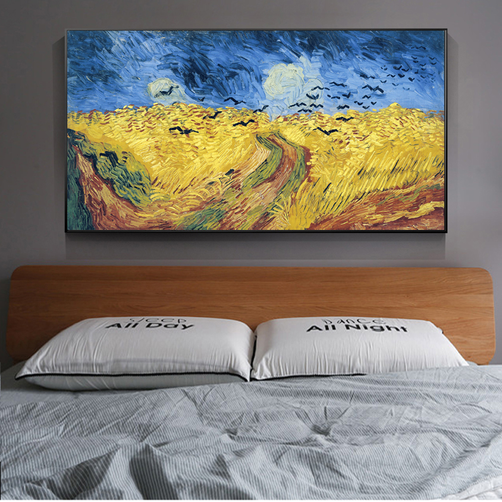 Vang Gogh Cuadros Us 4 47 35 Off Wheatfield With Crows Canvas Art Paintings Reproductions Van Gogh Famous Art Prints On The Wall Cuadros Pictures Home Decoration In