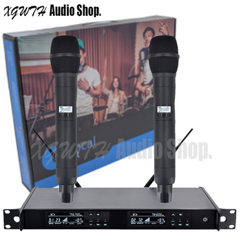 UHF Wireless Microphone System with UR24D Mic Mics Karaoke 2 Dynamic Handheld Cardioid Microphone Professional
