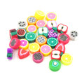 300Pcs Polymer Clay Fimo Fruit Slices Beads 10mm Kids Jewelry Diy Material Bisuteria Abalorios Taki Malzemeleri Bead Accessories