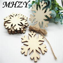 5/10PCS 8cm Natural Wood hollowed Christmas snowflake bookmark Pattern Art Collection Craft Handmade for Home decoration DIY Q80()