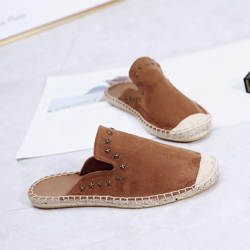 Fashion Ethnic Casual Star Rivets Espadrilles Flat New Women Spring Slip on Fishermen Hemp Rope Shoe in Women 39 s Flats from Shoes